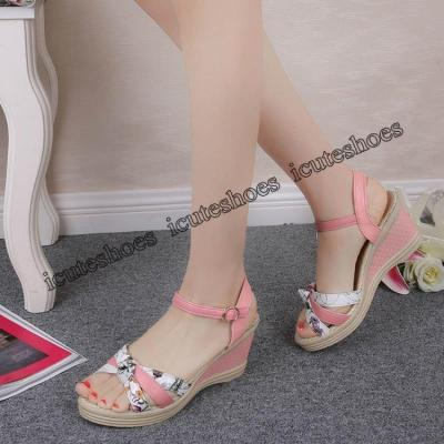 Women Sandals Summer Wedge Sandals Women Shoes Bohemian Fashion buckle classic