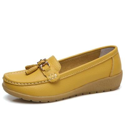 Artificial Leather Soft Slope Peas Flat Shoes