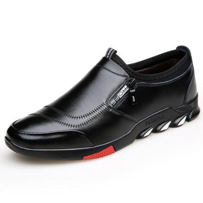 Shoes Mens Loafers Spring Fashion Slip on Leather Shoes Driving Men Soft Black