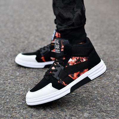 Men's Fashion Hight Top Camouflage Skateboard Shoes