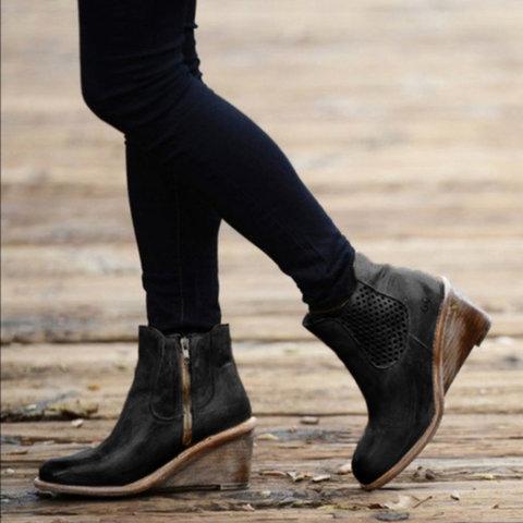 Women Casual Wedges Boots