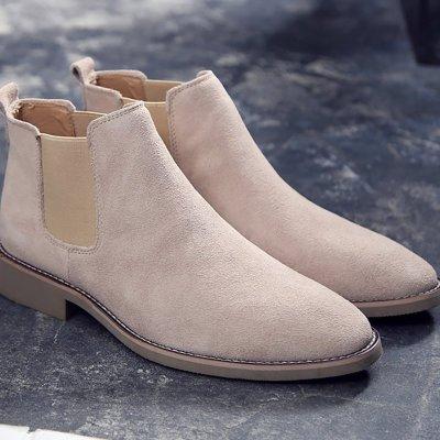 Men's High Leather Chelsea Men Boots