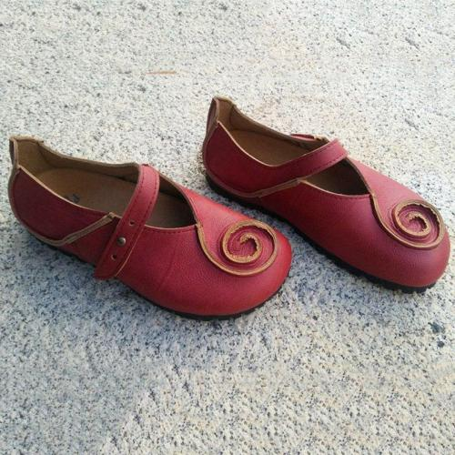 Summer Vintage Soft Red Daily Flats