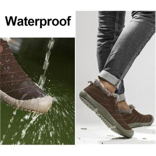 Women Large Size Unisex Waterproof Fur Lining Snow Boots