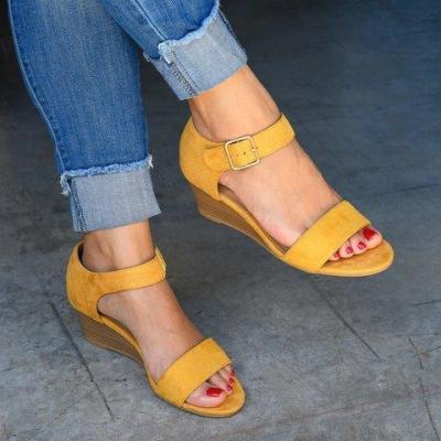 Daily Low Heel Wedge Sandals