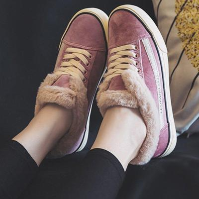 Womens Casual Comfy Flocking Sneakers