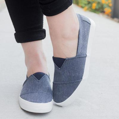 Women Fashion Non-slip Loafers Casual Slip-on Canvas Sneakers