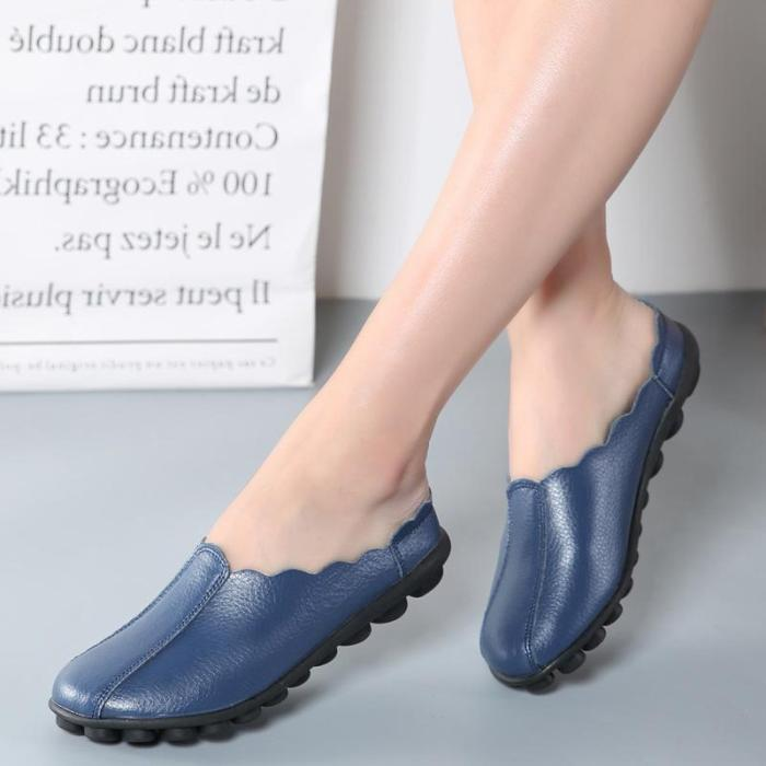 Large size Backless Flat Soft Sole Casual Loafers