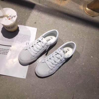 Round Toe Lace-up Flat Casual Sneakers