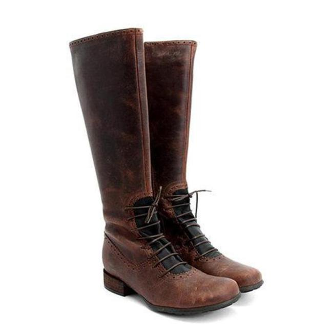Classic Vintage Front Lace up Boots