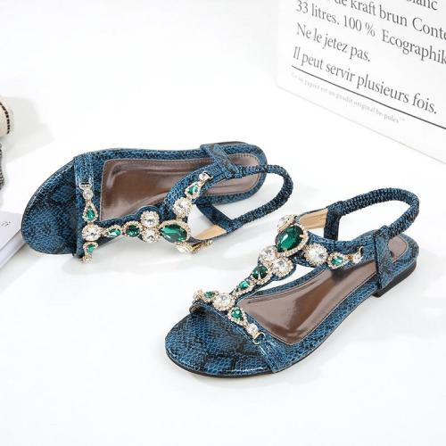 Large Women's Shoes Vintage Bohemian Rhinestone Sandals Women 2020 Sandals