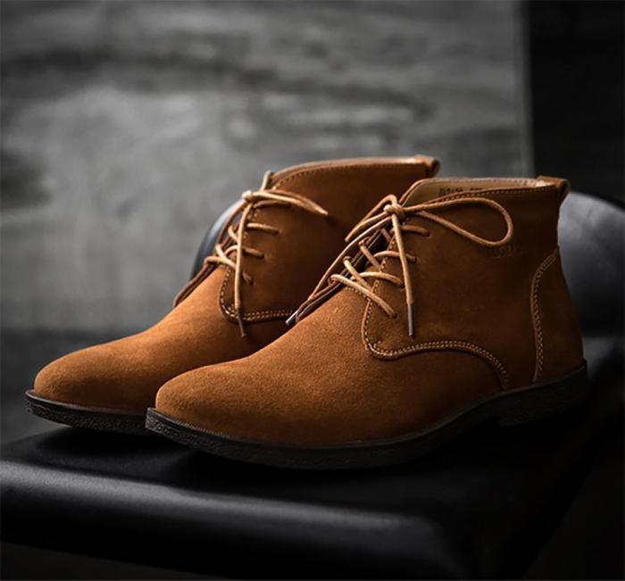 Men's Mid Scrub Martin Boots