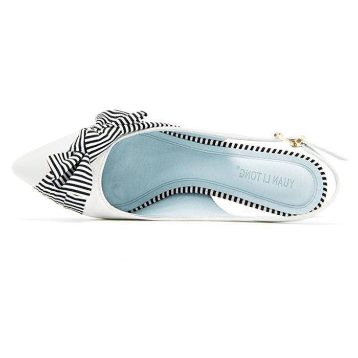 Elegant Bowknot Cloth Panel Summer Sandals