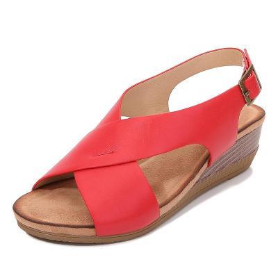 Ladies Shoes 2020 New Slope Heel Gladiator Sandals Large Size Sandals Simple Sandals Women