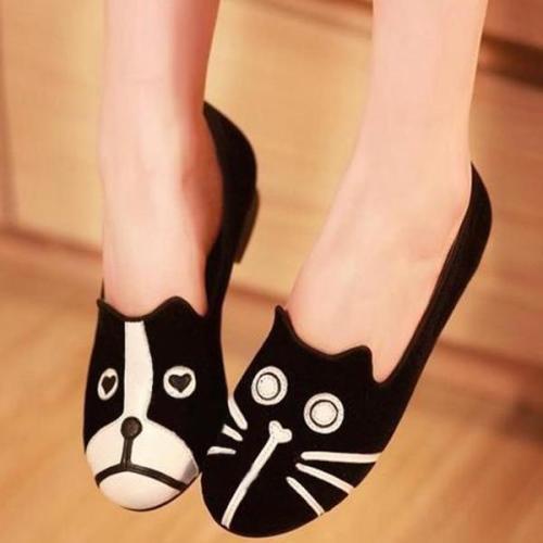 Low Heel Artificial Suede Shoes