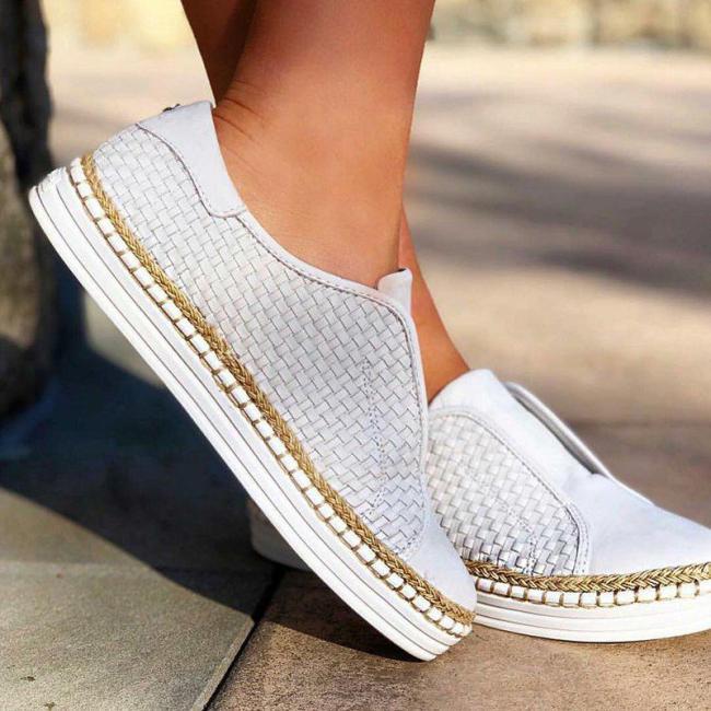 Slide Flat Heel Pu Casual Women Sneakers
