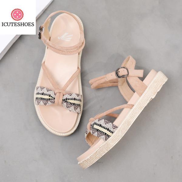 Women Platform Sandals Flip Flop Casual Roman Sandals Fashion Bow