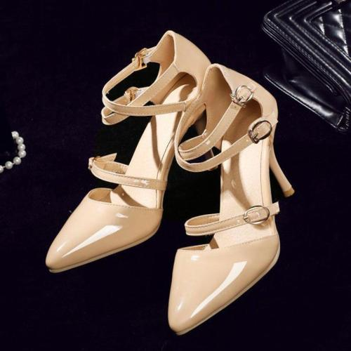 Summer Buckle Stiletto Heel Elegant Pumps