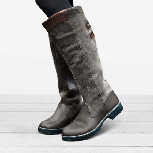 Women Non-slip Outdoor Boots Waterproof Low Heel Paneled Boots