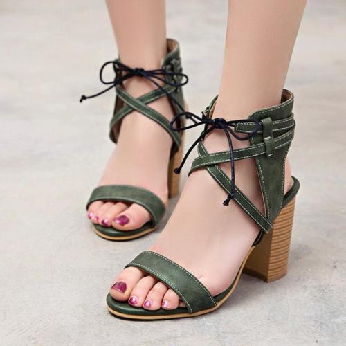 Spring/fSummer Holiday Casual Chunky Heel Sandals