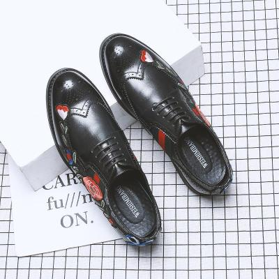 Embroidery Flowers Driving Oxfords Flat Shoes