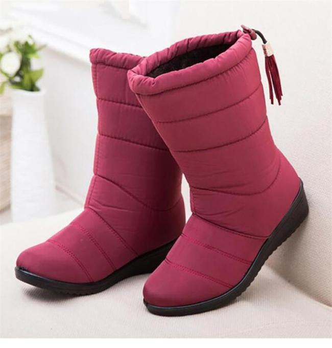 Warm Waterproof Winter Boots Mid Calf Snow Boots Women's Boots