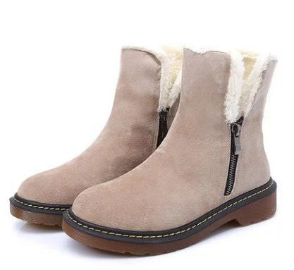 Ankle Snow Shoes Women Zipper Boots
