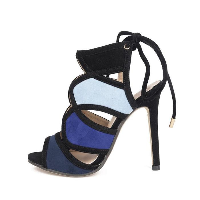 women's sandals cross ties Rome shoes toes and fish toe shoes.
