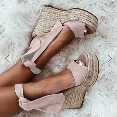 Women Wedge Heel  Artificial Suede Sandals