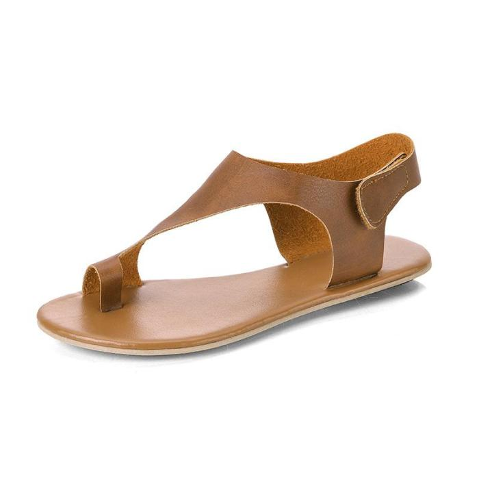 Summer Flat-bottomed Women's Shoes Round Head Comfortable Slip Sandals
