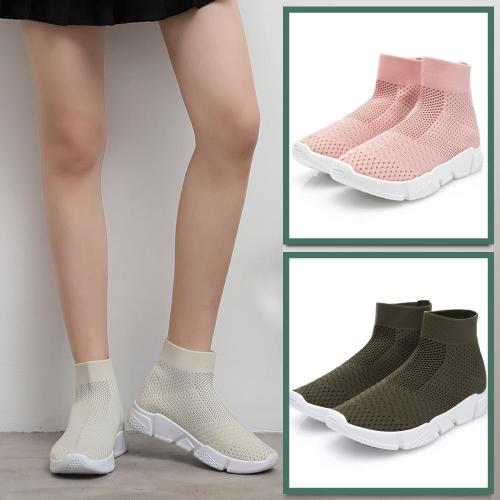 Women High Tube Sport Casual Gym Breathable Socks Sneakers