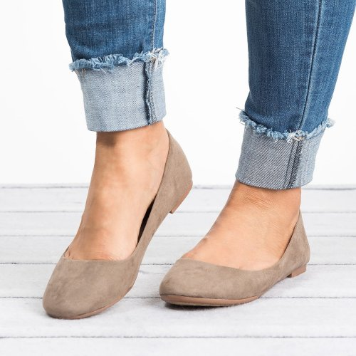 Classic Taupe Ballerina Flats