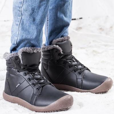 Medium Tube Non-Slip Medium Tube Snow Leather Men Boots