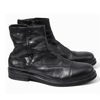 Male side zip handmade Chelsea boots