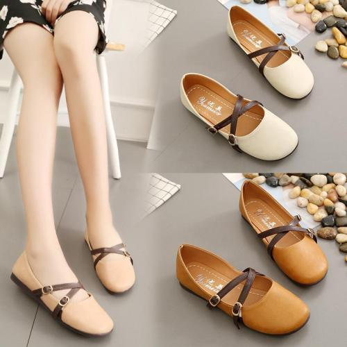 Women Autumn Stylish Casual Shallow Mouth Flat & Loafers