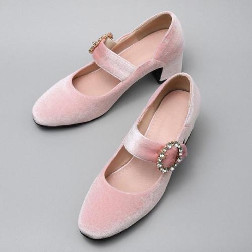 Elegant Rhinestone Suede Party & Evening Shoes