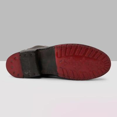 Women's Vintage Low Heel Plus Size Ankle Booties Slip-on Short Boots