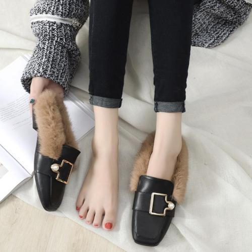 Fashion Slippers Women Wear Cozy Muller Shoes