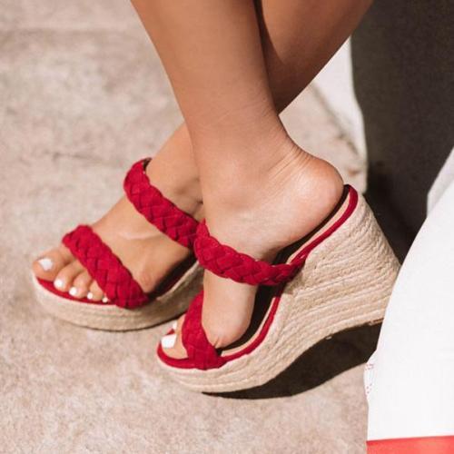 Women Faux Suede Open Toe Sandals