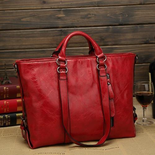Women Pu Leather Tote Handbags Casual Large-Capacity Crossbody Bags Shoulder Bags