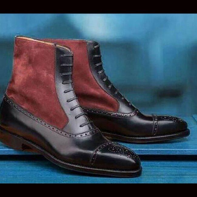 Retro Tie Colouring Medium Boot