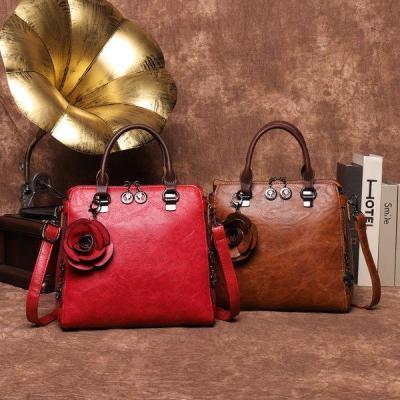Retro Faux Leather Hangdbag Korea Style Crossbody Bag