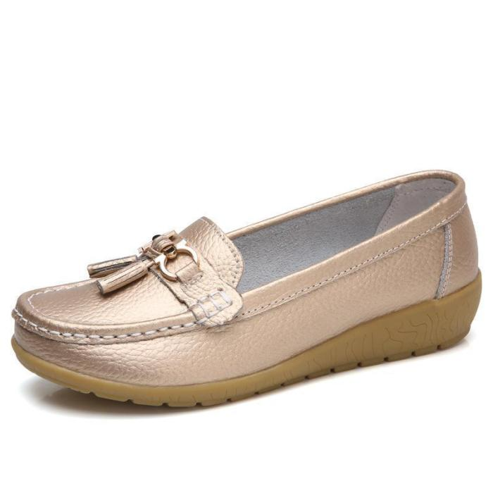 Artificial Leather Soft Slope Flat Shoes