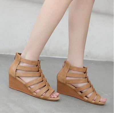 Peep Toe Casual Date Wedge Sandals