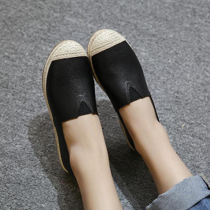 Large Size Women Glitter Loafers Summer Slip-on Flats Fisherman Shoes