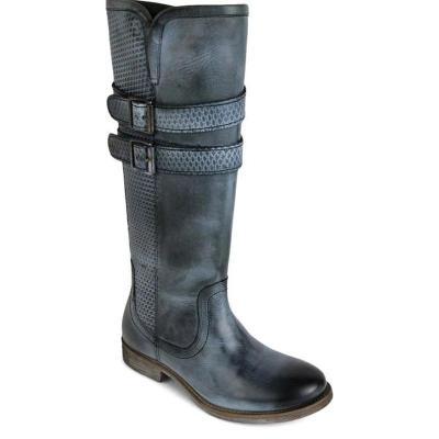 Women Vintage Buckle Riding Boots