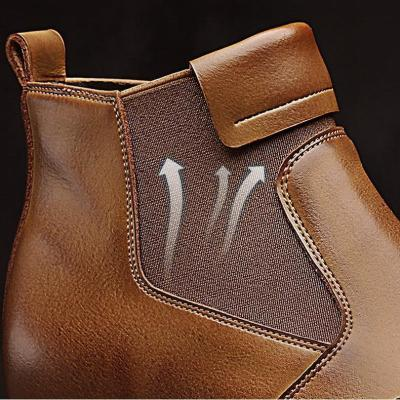 Men Cow Leather British Style Pointed Toe Men Boots