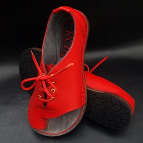 Criss-cross PU Flip-flop Pure Color Sandals