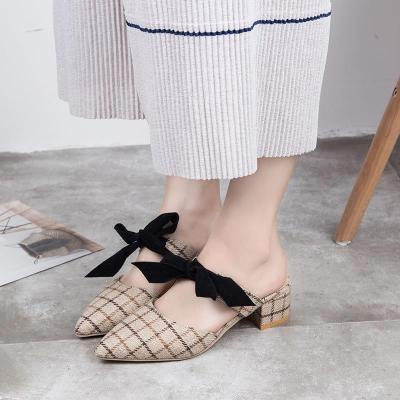 Slippers Women's Summer Fashion Wear Heel Muller Shoes Lazy Shoes Women's Cool Slippers