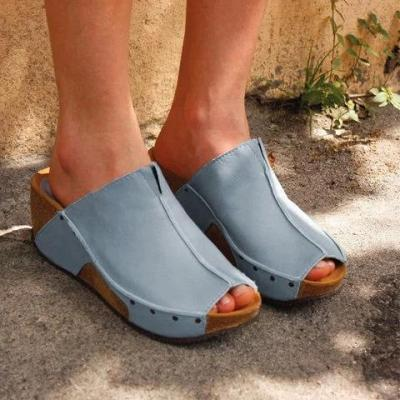 Women Wedge Heel Sandals Summer Vintage Holiday Shoes